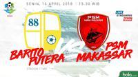 Liga 1 2018 Barito Putera Vs PSM Makassar (Bola.com/Adreanus Titus)
