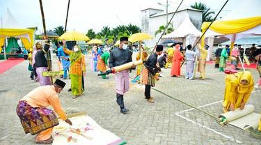 Kegiatan Togak Tongol menyambut Ramadan di Kabupaten Pelalawan.