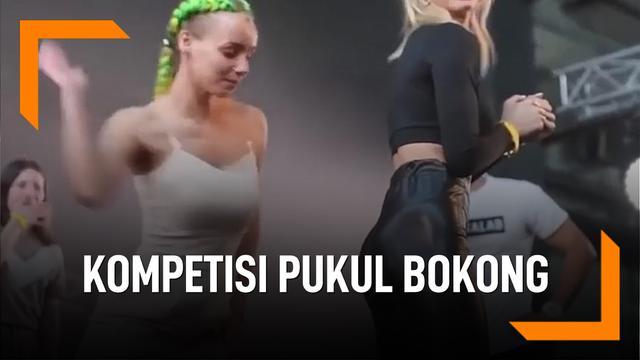 Aneh, Ada Kompetisi Wanita Pukul Bokong