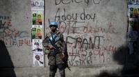 Penjagaa di pemilu Haiti. (Reuters)