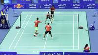 Tim Indonesia untuk Piala Sudirman 2015 tengah berlatih di Li Yong Bo Badminton School, Dongguan, Tiongkok, untuk menghadapi Inggris, Senin (11/5/2015). (Humas PP PBSI)
