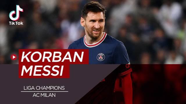 Berita video TikTok tentang lima klub yang sering dijebol oleh Lionel Messi di ajang Liga Champions.