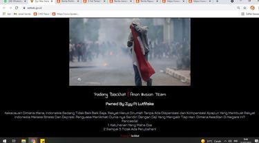 Tangkapan layar website resmi Sekretariat Kabinet setkab.go.id diretas