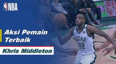 Berita Video Aksi-Aksi terbaik Khris Middleton Saat Bawa Milwaukee Bucks Kalahkan Washington Wizards di NBA