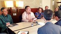 Menteri Bambang Brodjonegoro bertemu utusan Korsel di Fiji. Dok: Humas Kementerian PPN/Bappenas