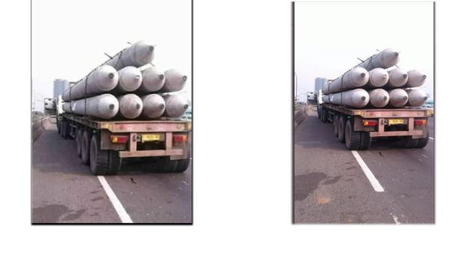 Klaim netizen (kiri) dan foto asli di Twitter TMC Polda Metro (kanan)