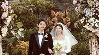 Pada tanggal 31 Oktober 2017, Song Joong Ki dan Song Hye Kyo resmi menikah. namun sayang, usia pernikahan yang belum genap menginjak 2 tahun ini harus menghadapi jalan perceraian. (Liputan6.com/IG/kyo1122)