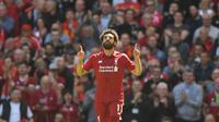 Liverpool menjalani musim yang mengecewakan, tetapi ada satu pemain yang performanya terus stabil dan terus memproduksi gol. Ia adalah Mohamed Salah. (Foto: AFP/Pool/Paul Ellis)