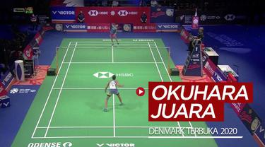 Berita video highlights final tunggal putri Denmark Terbuka 2020 antara Nozomi Okuhara melawan Carolina Marin, Minggu (18/10/2020).