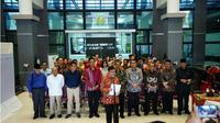 Seluruh rektor Perguruan Tinggi Negeri (PTN) dan Perguruan Tinggi Swasta (PTS) di Sumatera Utara (Sumut) sepakat bijak hadapi hasil Pemilihan Umum (Pemilu) 2019. (Liputan6.com/Reza Efendi)