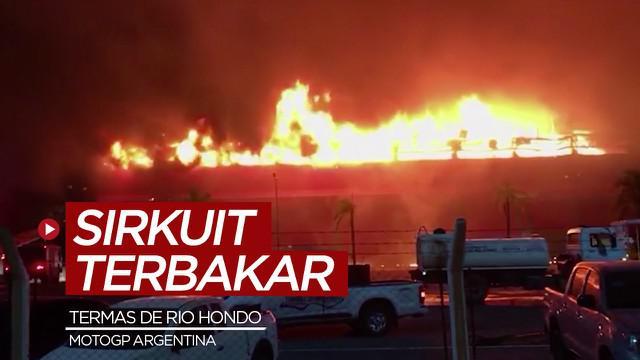 Berita video sirkuit di Argentina untuk MotoGP mengalami kebakaran.