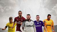 Ilustrasi - Lukasz Piszczek, Zlatan Ibrahimovic, Wayne Rooney,Franck Ribery, Gianluigi Buffon (Bola.com/Adreanus Titus)