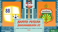 Shopee Liga 1 - Barito Putera Vs Bhayangkara FC (Bola.com/Adreanus Titus)