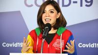 Merry Riana berbagi tips sukses rapat jarak jauh. (dok. BNPB/Dinny Mutiah)