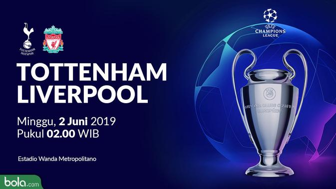 Tonton Live Streaming Final Liga Champions Tottenham vs Liverpool Exclusive di Vidio 2