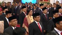 Pelantikan para menteri Jokowi Kabinet Indonesia Maju di Jakarta, 23 Oktober 2019. (dok. screenshot Vidio.com/Liputan6.com)