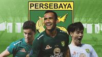 Persebaya Surabaya - Bruno Moreira, Jose Wilkson, Taisei Marukawa (Bola.com/Adreanus Titus)