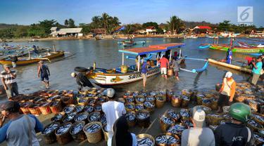 Hiruk-pikuk Aktivitas Nelayan di TPI Palangpang Ciletuh
