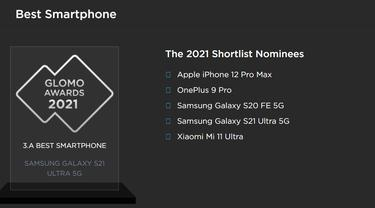 Samsung Galaxy S21 Ultra 5G jadi Smartphone Terbaik