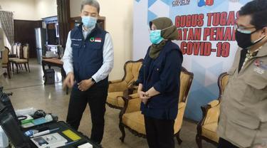 Kota Bogor menerima bantuan alat PCR Portabel dari Satgas Covid-19 Jawa Barat