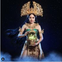 Jolene Marie Rotinsulu bakal memakai Kostum Nasional yang dirancang Diana M Putri di Miss International 2019 di Tokyo, Jepang. (dok. Screenshot Instagram @dianamputri/https://www.instagram.com/p/B3ov_CFn1Qe/Putu Elmira)