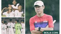 Timnas Indonesia, U-19, U-16, Shin Tae-yong dan Bima Sakti (Bola.com/Adreanus Titus)