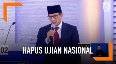Jika terpillih nanti, Prabowo-Sandi akan menghapus ujian nasional karena beberapa alasan.