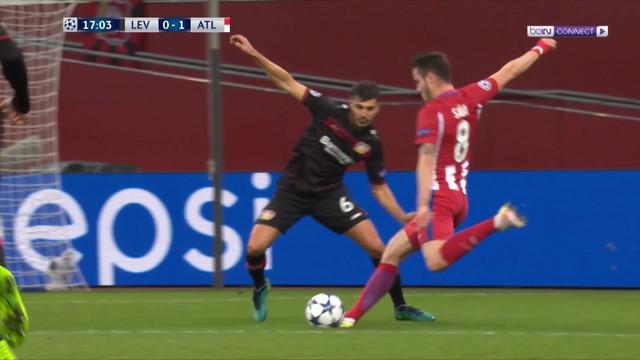 Atletico Madrid menang 4-2 atas Bayer Leverkusen pada leg pertama babak 16 besar Liga Champions. This video presented by Ballball.