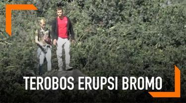 Dua wisatawan asing dicari penjaga setelah nekat menerobos ke area Gunung Bromo yang terkenan erupsi.