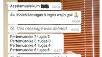 6 Chat Teman Sekelas Minta Contekan Ini Tidak Tahu Diri (sumber: Twitter/txtdaripelajar)