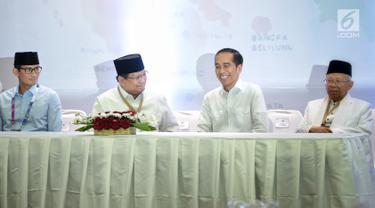 Momen Akrab Jokowi-Ma'ruf dan Prabowo-Sandi di KPU