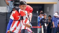 Pepanah Riau Ega Agatha dan Diananda Choirunisa menyabet emas SEA Games 2017 dari nomor recurve beregu campuran, Selasa (22/8/2017). (Twitter/KL 2017)