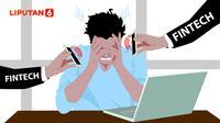 Ilustrasi korban pinjaman online atau fintech lending ( Ilustrasi: Abdillah/Liputan6.com)