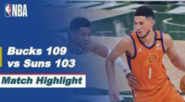 Cover Highlights Pertandingan Final NBA Game 4  Milwaukee Bucks Vs Phoenix Suns, Kamis (15/7/2021)