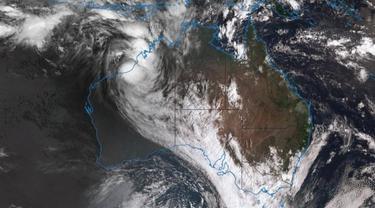 Badai tropis siklon Joyce disebut akan menghantam pantai barat Australia pada Jumat Petang (AP)