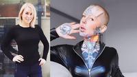 Lina L memodifikasi tubuhnya hingga dijuluki manusia robot. Sumber: Instagram/cigno.sg