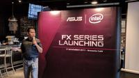Muhammad Firman, Head of Public Relations and e-Marketing Asus Indonesia saat peluncuran seri FX di Jakarta, Jumat (17/11/2017)