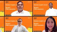 Setelah menjalani proses penggabungan, PT FWD Life Indonesia (FWD Life) dan PT FWD Insurance Indonesia telah resmi bergabung. Kini keduanya berada dalam satu payung yaitu PT FWD Insurance Indonesia (FWD Insurance).