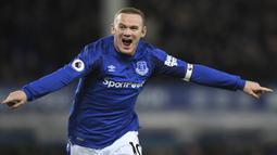 Wayne Rooney (208 gol) - Striker Timnas Inggris ini menempati posisi kedua sebagai pencetak gol terbanyak dalam sejara Premier League sampai sekarang. Rooney telah mengkoleksi 208 gol di kompetisi Premier League. (AFP/Paul Ellis)