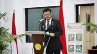 Mentan Syahrul Yasin Limpo membuka talkshow komoditas Porang yang memiliki potensi besar terhadap perkembangan ekspor produk pertanian nasional.