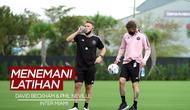Berita Video David Beckham Menemani Latihan Perdana Phil Neville di inter Miami