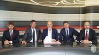 Stefano Pioli bersama direksi AC Milan. (dok. AC Milan)