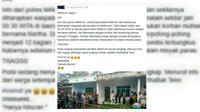 Status 'Marthabak Telor' yang sempat membuat resah masyarakat Mamuju (Facebook)