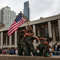 Ilustrasi tentara wanita Amerika Serikat. (AFP JOHN MOORE)