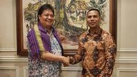 Airlangga dan President of Millenium Democratc Party Timor Leste. (Istimewa)