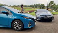 Toyota mengedepankan mobil hybrid di era elektrifikasi kendaraan di Indonesia. (Sigit TS/Liputan6.com)