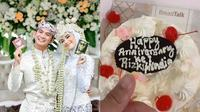 Anniversary Pernikahan Rizki D'Academy dan Nadya Mustika Rahayu (Sumber: Instagram/da2_rizki123)