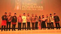 Malam Penganugerahan lima Tokoh Perubahan 2017 dari Harian Republika, di Ballroom Djakarta Theater, Selasa malam (10/4/2018).