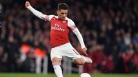 4. Lucas Torreira - Mantan pemain Sampdoria yang baru saja direkrut Arsenal ke stadion Emirates. Performa apiknya menjadi perbincangan penikmat sepak bola dunia. (AFP/Ben Stansall)