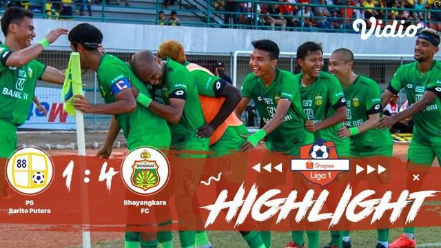 Pertandingan #ShopeeLiga1, antara #BaritoPutera vs #BhayangkaraFC yang berlangsung di Stadion Demang Lehman, Banjarmasin pada hari...